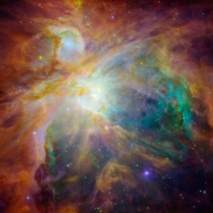 Chaos at the Heart of Orion Image credit: NASA/JPL-Caltech/STScI